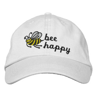 Bee Happy - Cap Embroidered Baseball Cap