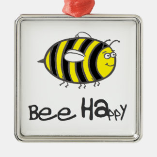 Bee Happy Christmas Ornament