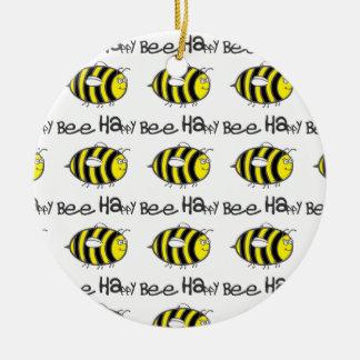 Bee Happy Christmas Ornament