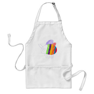 BEE Happy Colorful Bumble Bee Apron