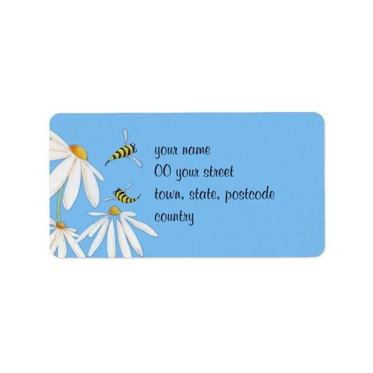 Bee Happy Daisies Address Label