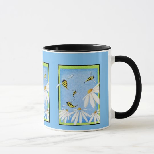 Bee Happy Daisies Mug