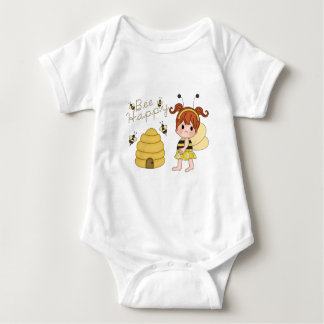 Bee Happy Design Baby Bodysuit