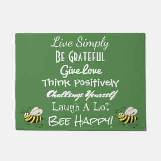 Bee Happy Door Mat
