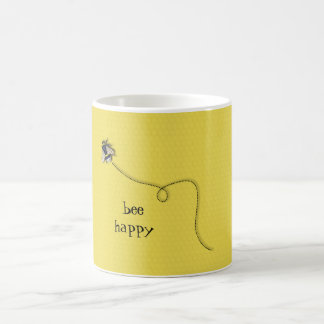 Bee Happy Fun Yellow Bee Mug