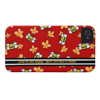 Bee Happy iPhone4 Barely There - Personalize iPhone 4 Case-Mate Case