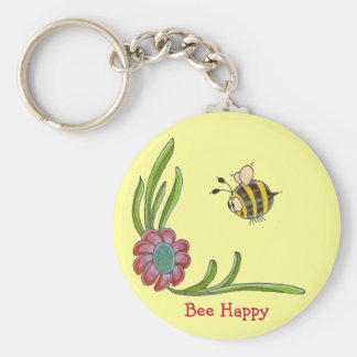 Bee Happy Keychain