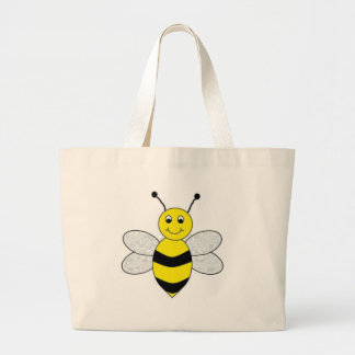 Bee Happy Large Tote Bag