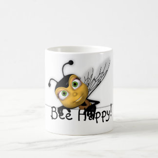 Bee Happy Mug - Fun Honey Bee