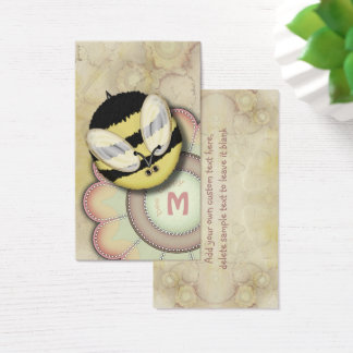 Bee Happy Personalized Monogram Business Card