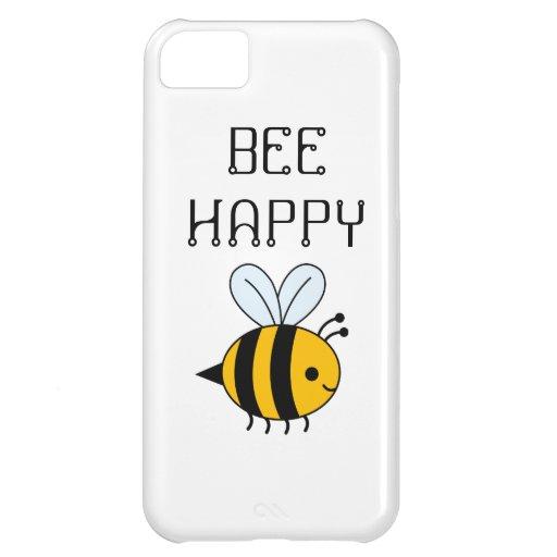 BEE HAPPY PHONE CASE iPhone 5C CASES