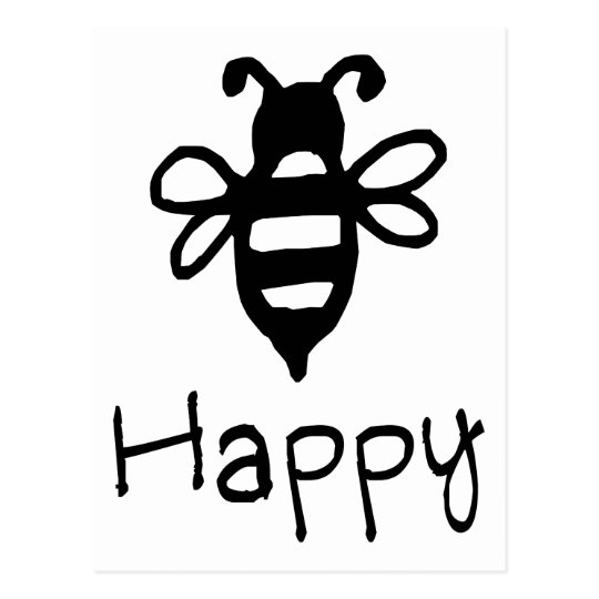 Bee Happy - Quote With A Bee Graphic