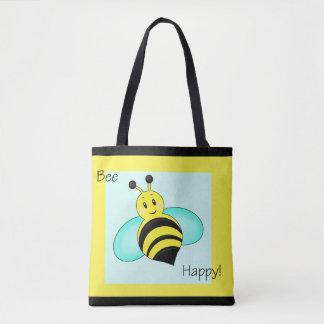 """Bee Happy"" Tote Bag"