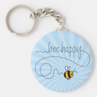 bee happy trail keychain