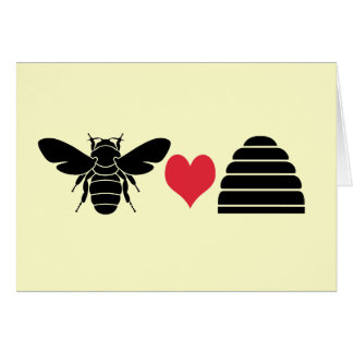 Bee Heart Hive Greeting Card