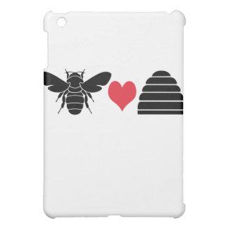 Bee Heart Hive iPad Mini Cover