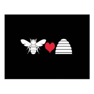 Bee Heart Hive Postcard