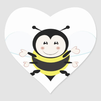 Bee Heart Sticker