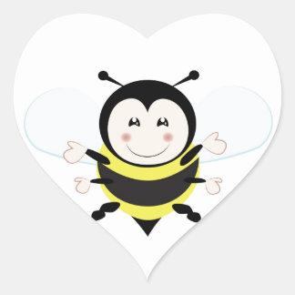 Bee Heart Sticker
