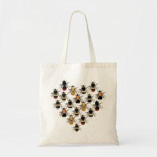 Bee Heart Tote Bag