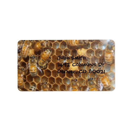 Bee Hive Address Label
