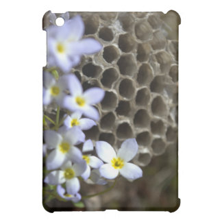 Bee Hive Comb and Flowers Case For The iPad Mini