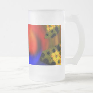 Bee Hive Frosted Glass Mug