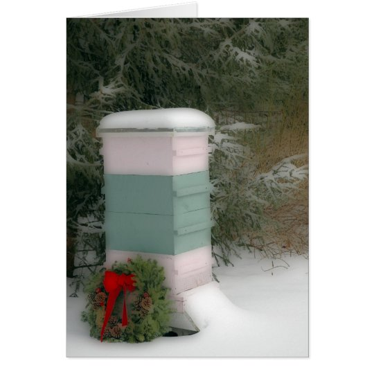 Bee Hive Holiday Card
