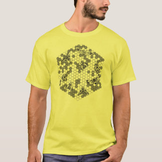 Bee Hive (Retro) Y T-Shirt