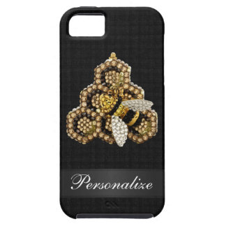 Bee & Honeycomb Diamond Jewels Personalized iPhone 5 Covers