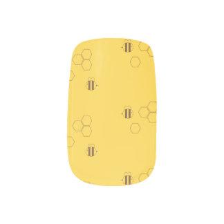 Bee Honeycomb Pattern Minx Nail Art