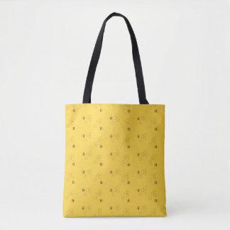 Bee Honeycomb Pattern Tote Bag
