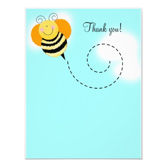Bee Hop Bumble Bee Flat Thank you card 4x5