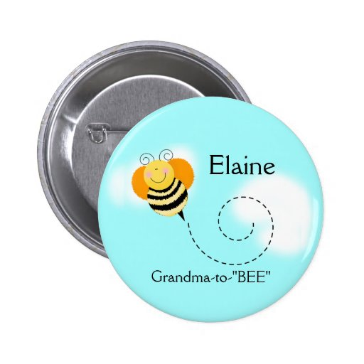 BEE HOP BUMBLE BEE NAME TAG Personalized Button