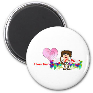 Bee: I Love You 6 Cm Round Magnet