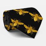 Bee in Gold Tie