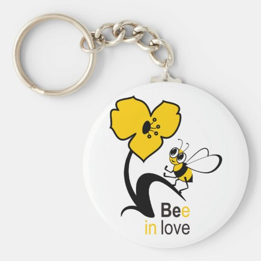 Bee in love keychain