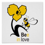 Bee in love poster