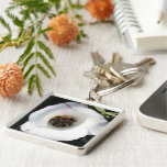 Bee-in Silver-Colored Square Key Ring