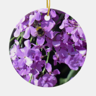 Bee in Summer Lilac at Erddig Hall Christmas Ornament
