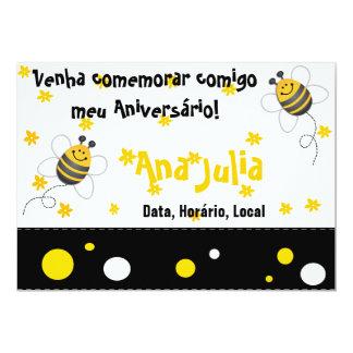 Bee 13 Cm X 18 Cm Invitation Card