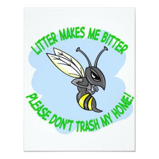 "bee 4.25"" x 5.5"" invitation card"
