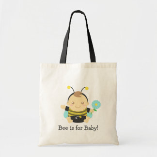 Bee is for Baby, Cute Bumble Bee Budget Tote Bag