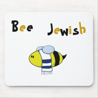 """Bee Jewish"" Mouse Pad"