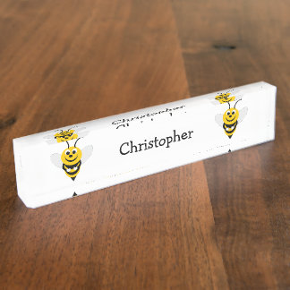 Bee Just Add Name Desk Nameplates