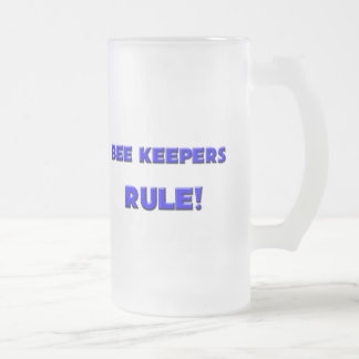 Bee Keepers Rule! Frosted Glass Beer Mug