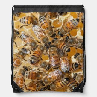 Bee keeping at Arlo's Honey Farm Drawstring Bag