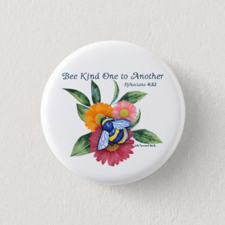 Bee Kind to One Another- Scripture Round Button