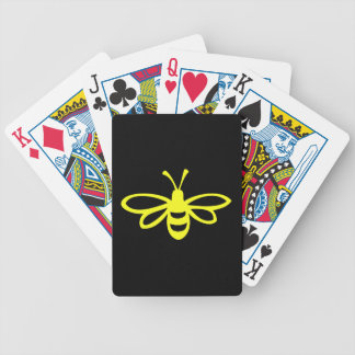 Bee (lemon colored) bicycle playing cards