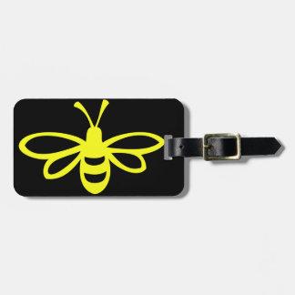 Bee (lemon colored) luggage tag